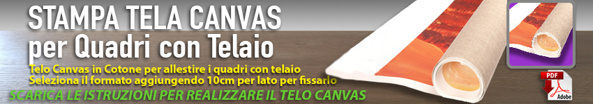 stampa canvas per quadri